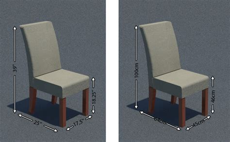 average seat width dining chair dimensions