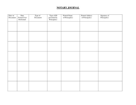 Notary Page Free Download Chlain College Publishing Notary Record Book Template