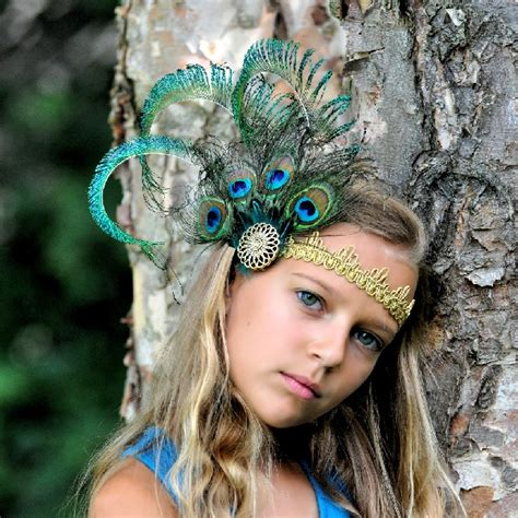 beautiful luxury peacock feather headband for babies handcrafted tutus bustle tutus mini top hats lace