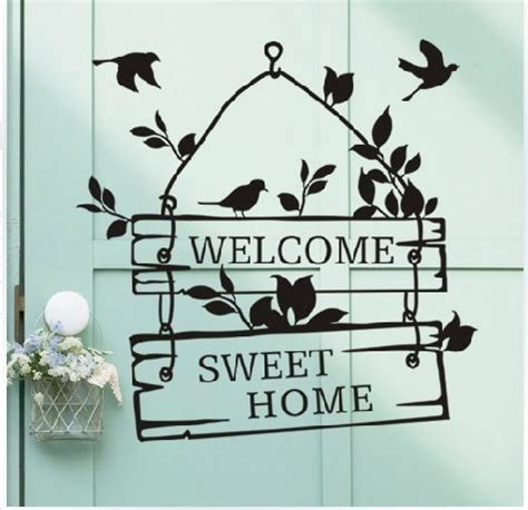 Sticker Wallpaper Dinding Welcome Sweet Home get cheap animated butterfly wallpaper aliexpress alibaba