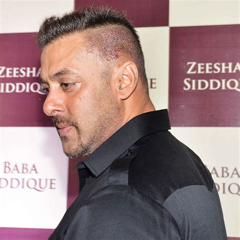 salman khan sultan hair cut baba siddique s iftar party salman khan surprises with