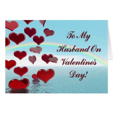 happy valentines day to hubby happy s day for husband greeting card zazzle