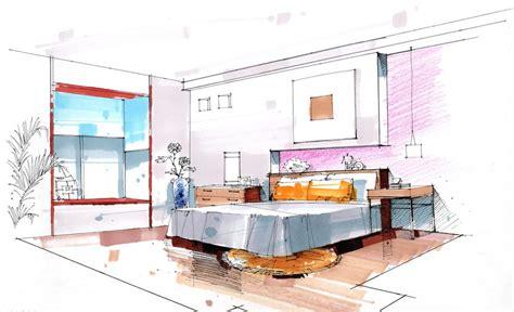 bedroom background walls  desks sketch bocetos