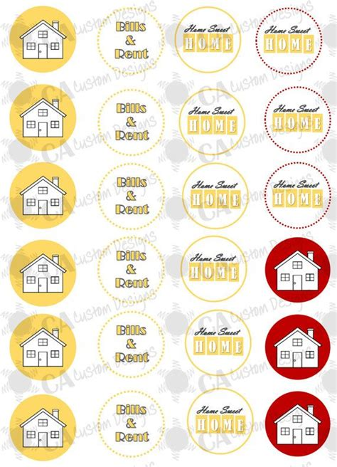 printable housewarming cupcake toppers 17 best images about housewarming on pinterest keys