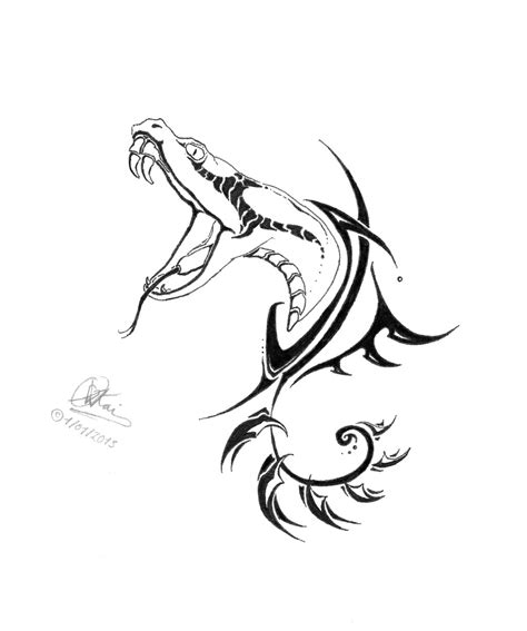 snake tribal tattoo designs the year of the snake tribal tatoo design by vitamin