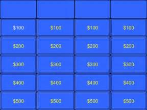 Jeopardy Template by Jeopardy Template Gatewaytogiving Org