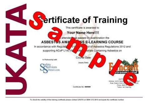 asbestos awareness certificate template asbestos awareness course 163 12 cheapest