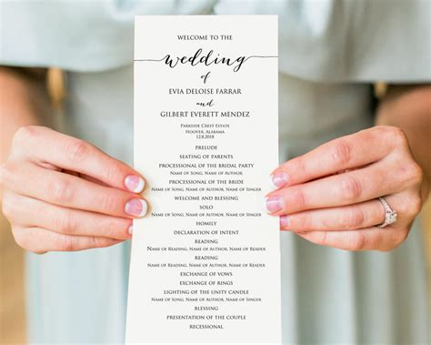 Wedding Programs 183 Wedding Templates And Printables Diy Wedding Program Template