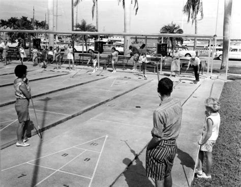 Fort Myers Court Records Florida Memory Players On The Shuffleboard Courts Fort Myers Florida