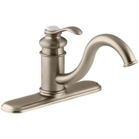 brushed bronze kitchen faucet kohler fairfax single handle standard kitchen faucet in