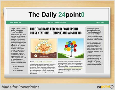 newspaper layout and design ppt 110 best images about versatile uses of 24point0 slides