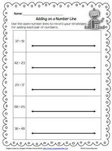 number line worksheets 2nd grade 1000 images about
