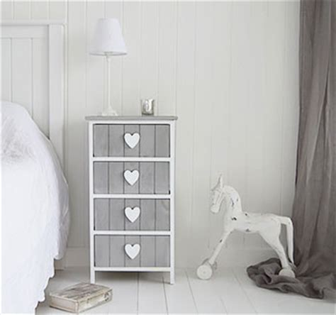 white heart bedroom furniture grey and white furniture heart cottage drawers