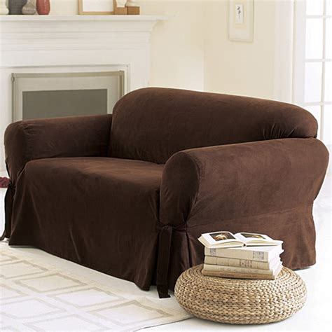 sofa slipcovers walmart sure fit soft suede sofa cover walmart com