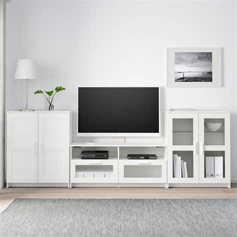 brimnes tv storage combinationglass doors white ikea
