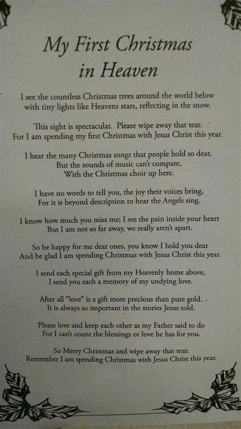 christmas  heaven christmas  heaven heaven poems mom  heaven quotes
