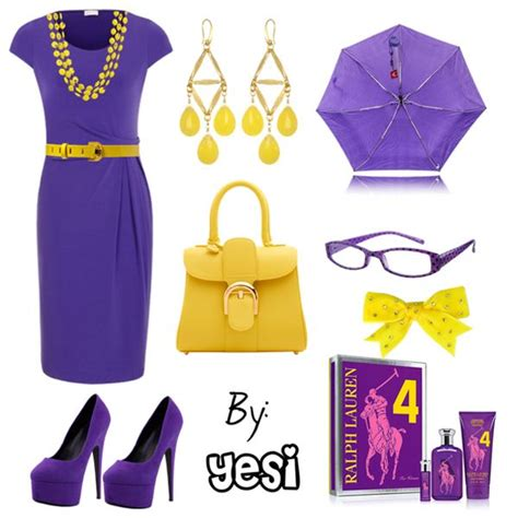 Purple Must Accessories For Fall by Purple Dress With Yellow Accessories Fall S