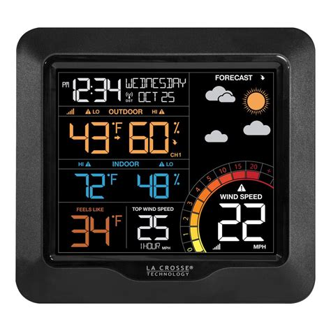 la crosse technology color wind speed weather station with