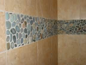 River rock wall tile pebble shower floors for tiled showers how to