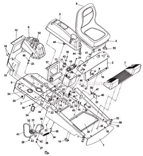 husqvarna lawn mower parts diagram husqvarna cz42175 parts list and diagram