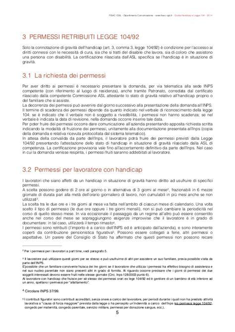 le guide fisac handicap e legge 104 2014