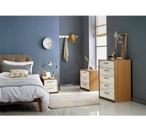 sywell bedroom furniture buy home new sywell 3 drawer chest oak effect white