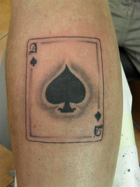 card tattoos spade card
