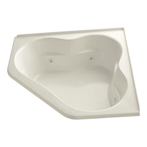 kohler corner bathtub kohler tercet 5 ft acrylic corner drop in whirlpool
