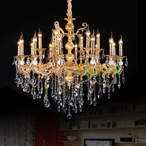 Gold Plated Zinc Alloy Crystal Chandelier Antique Gold Island Chandeliers