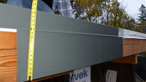 Flat Roof Overhang Mocking Up Our Zinc Fascia Showcase For A Green Eichler