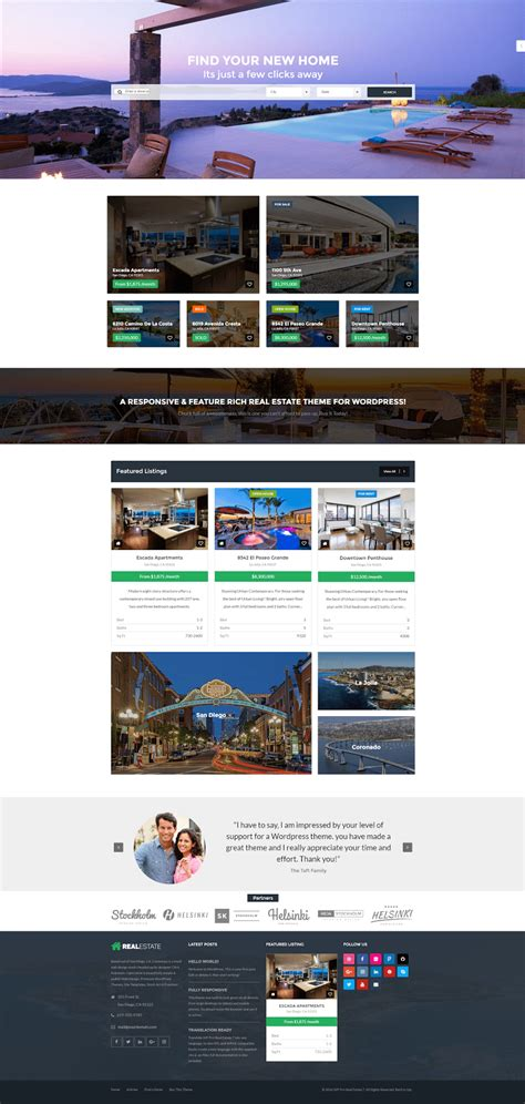 Real Estate Website Templates 25 Exles How To Choose Real Estate Website Templates With Idx