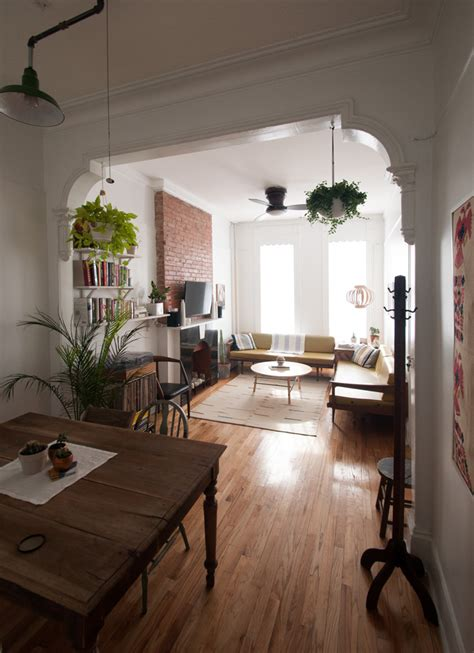 living room brooklyn old school charm in a brooklyn railroad apartment design