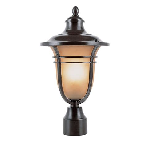 Outdoor Lighting On Sale Bel Air Lighting 1 Light Outdoor Rubbed Bronze Post Light With Glass Shade 5703