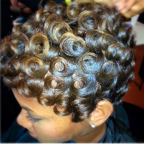how to do pin curls on black women s hair 239 best roller sets pin curl patterns images on