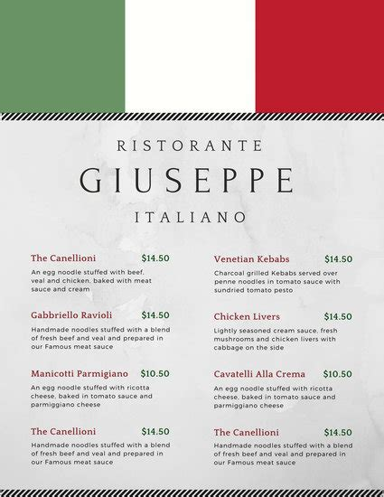 italian menu templates 28 images 40 psd indesign food