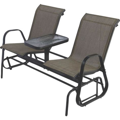 Glider Patio Chair 2 Person Outdoor Patio Furniture Glider Chairs With Console Table Fastfurnishings