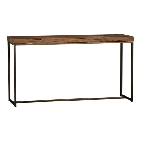 sofa table crate and barrel copy cat chic crate and barrel atacama console table