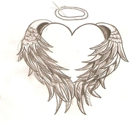 angel heart tattoo designs with wings design
