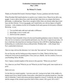 Graduation Speech Template by 8 Graduation Speech Exles Sles