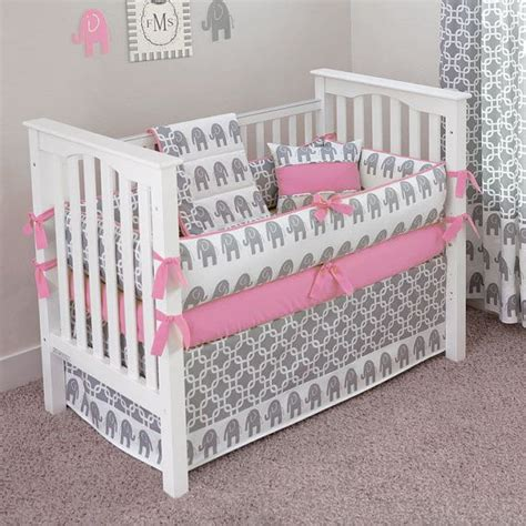 Custom Baby Crib Bedding Sets by Custom Made Ele 5pc Crib Bedding Set Choose Your By