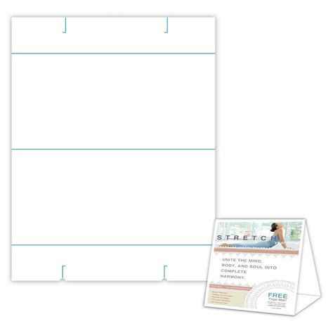 5 x 7 tent card template table tent str10ccwh blanks usa