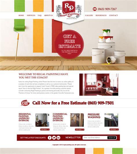 Bold Playful Web Design For Maverick Web Video By Behriatech Design 2825812 House Painter Website Template