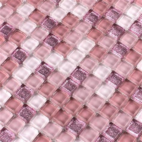 fliese rosa glasmosaik fliesen pink rosa glitzer 15x15x8mm ebay