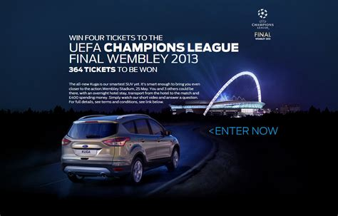 Ford Kuga 2013 Anh Ngelast by Ford Launches Uefa Chions League Ticket