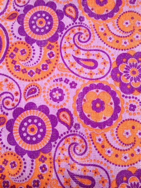 70s fabric funky 70s vintage fabric mod with retro flowers made in