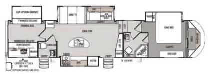 5th wheel bunkhouse floor plans forest river cers bunkhouse king bed and 2 bath 5th