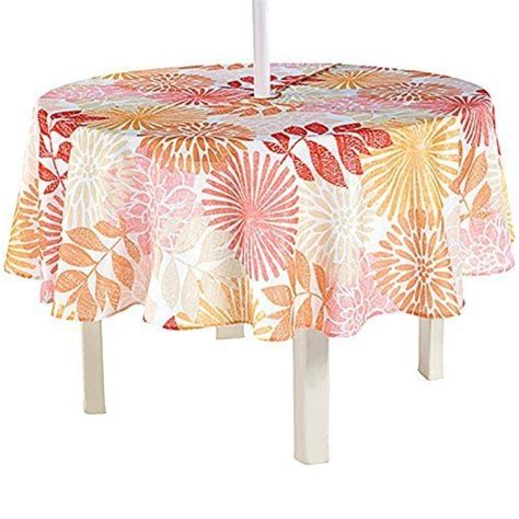 round patio tablecloth with umbrella hole new home