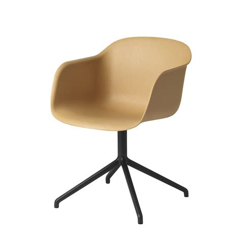 FIBER Arm chair swivel base for office in steel and composite material   MUUTO