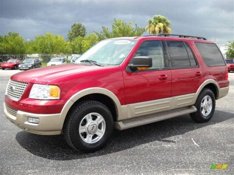 ford expedition red redfire metallic 2006 ford expedition eddie bauer exterior