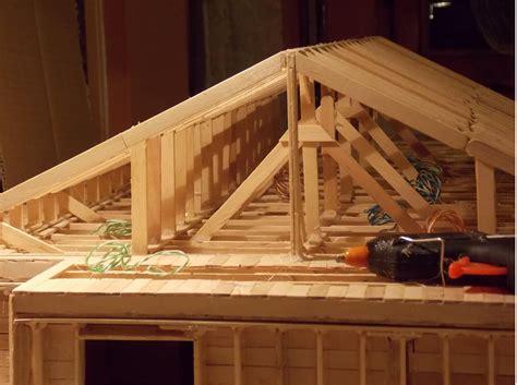 how to build a popsicle stick house 5 popsicle stick house build mini casa construita din